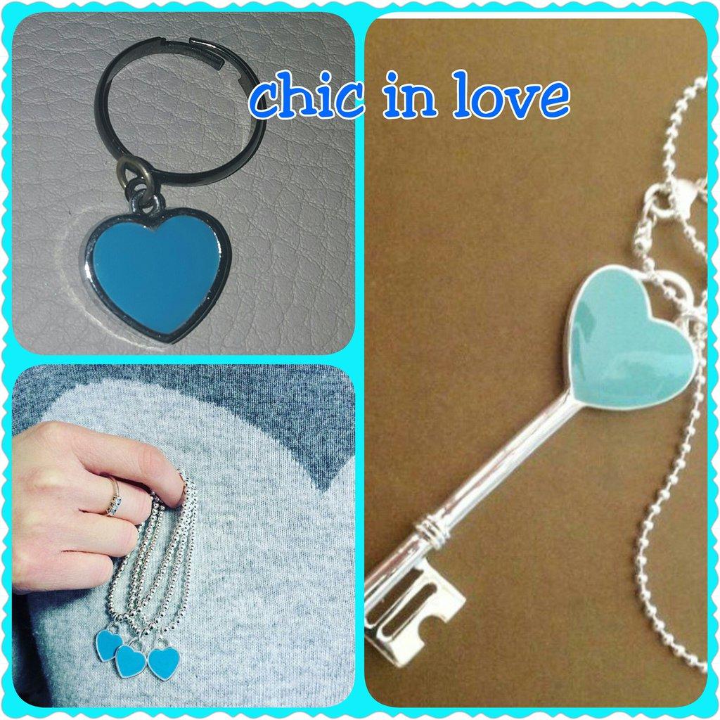 Collana chiave azzurra