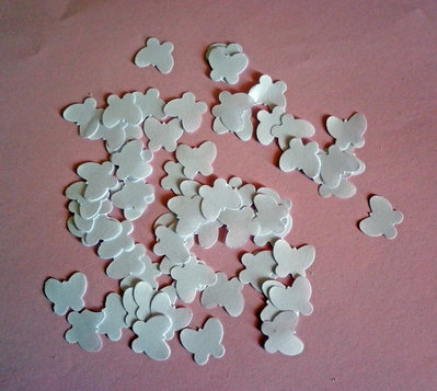 1000 farfalle di carta, coriandoli bianchi, decorazione tavola, matrimonio, bomboniere, compleanno, feste