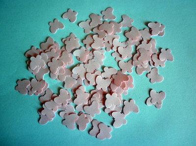1000 farfalle di carta, rosa, decorazione tavola, matrimonio, bomboniere, compleanno, feste, farfalline rosa