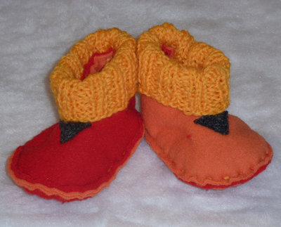 BI-COLOR BABY SLIPPERS 0/3