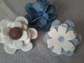 spille fiori in tessuto