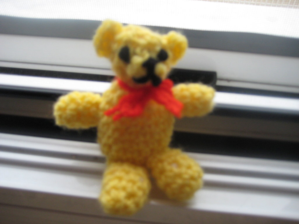 Miniature Crochet Teddy Bear-10cm