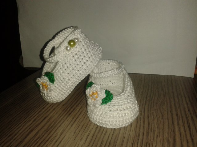 Scarpine bimba lana  cotone moda