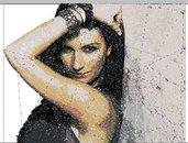 Cover Cd Laura Pausini ricamata