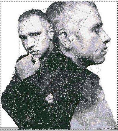 Cover Cd Eros Ramazzotti ricamata
