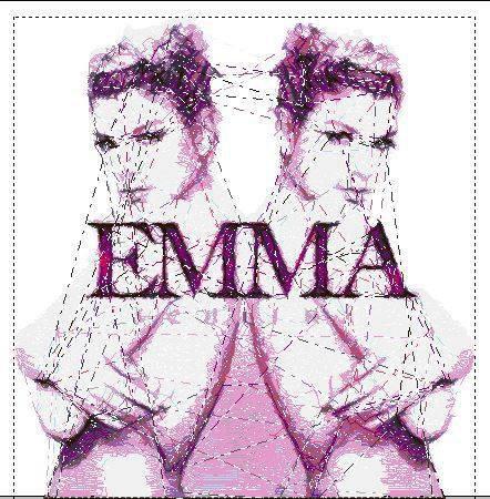 Cover Cd Emma ricamata