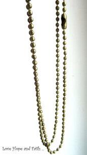 1 Base collana a pallini color bronzo 2mm (lungh.65cm)
