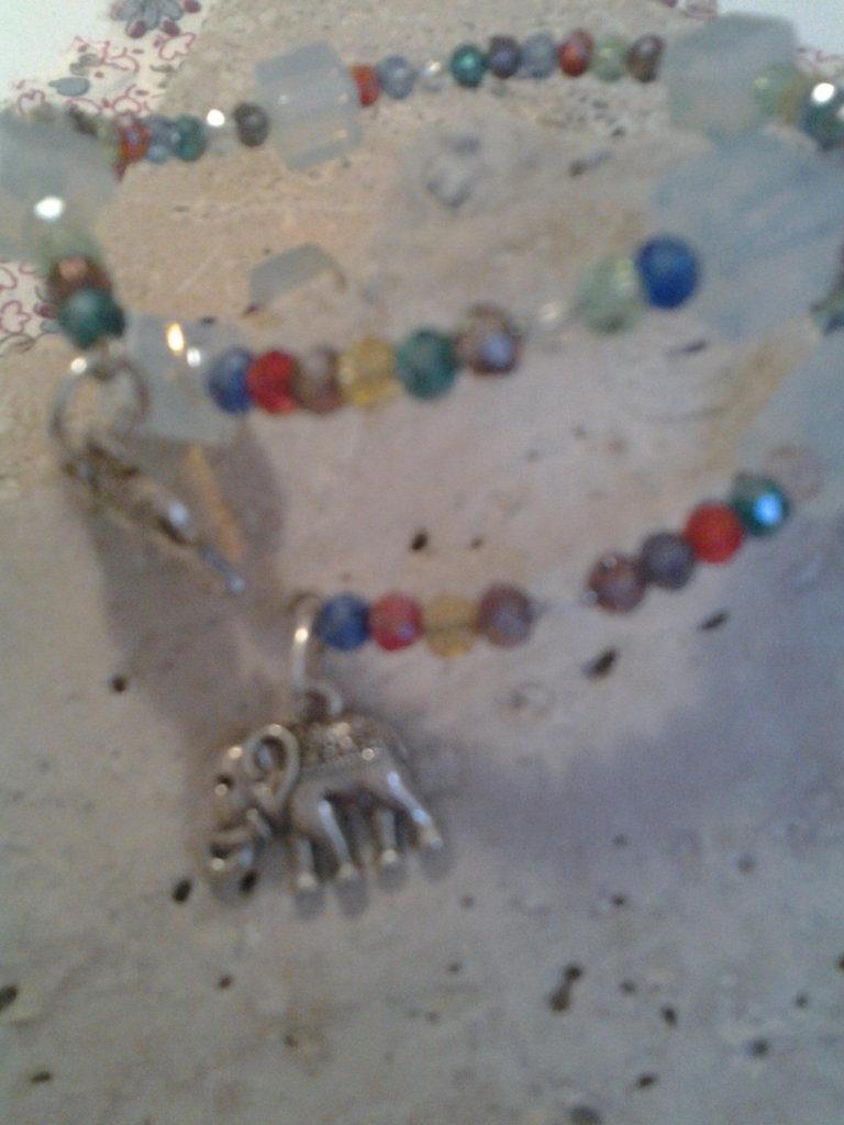 bracciale cristalli colorati