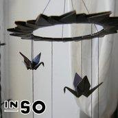 Scacciapensieri con gru origami