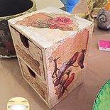 Portagioie oggetti legno Shabby
