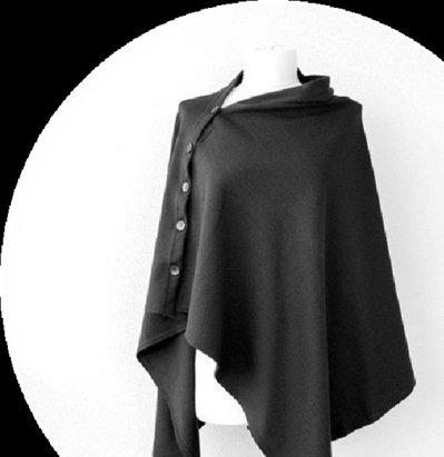 Poncho-sciarpa Convertible nero bianco spigato