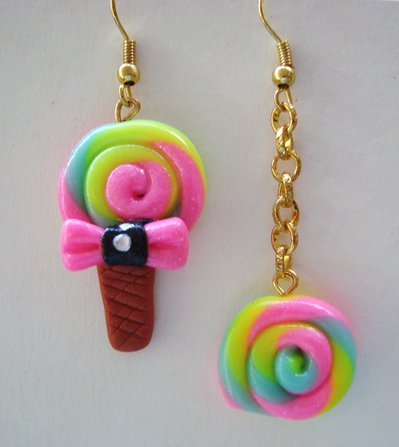 orecchini multicolor lecca lecca