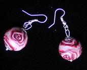 Handmade earings red roses