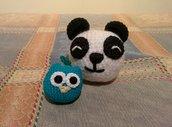 Portachiavi Panda Uncinetto