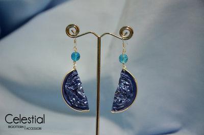 Orecchini Nespresso e perla - Azzurro