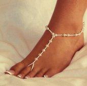 Cavigliera in perline