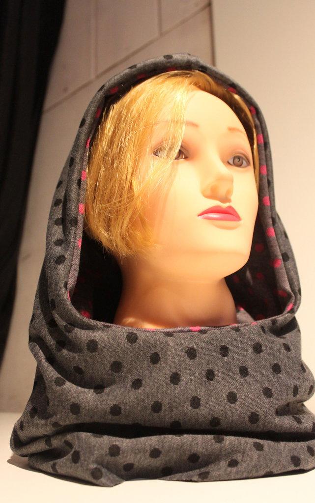 Cappuccio sciarpa doubleface #SKAT - Cucitorino