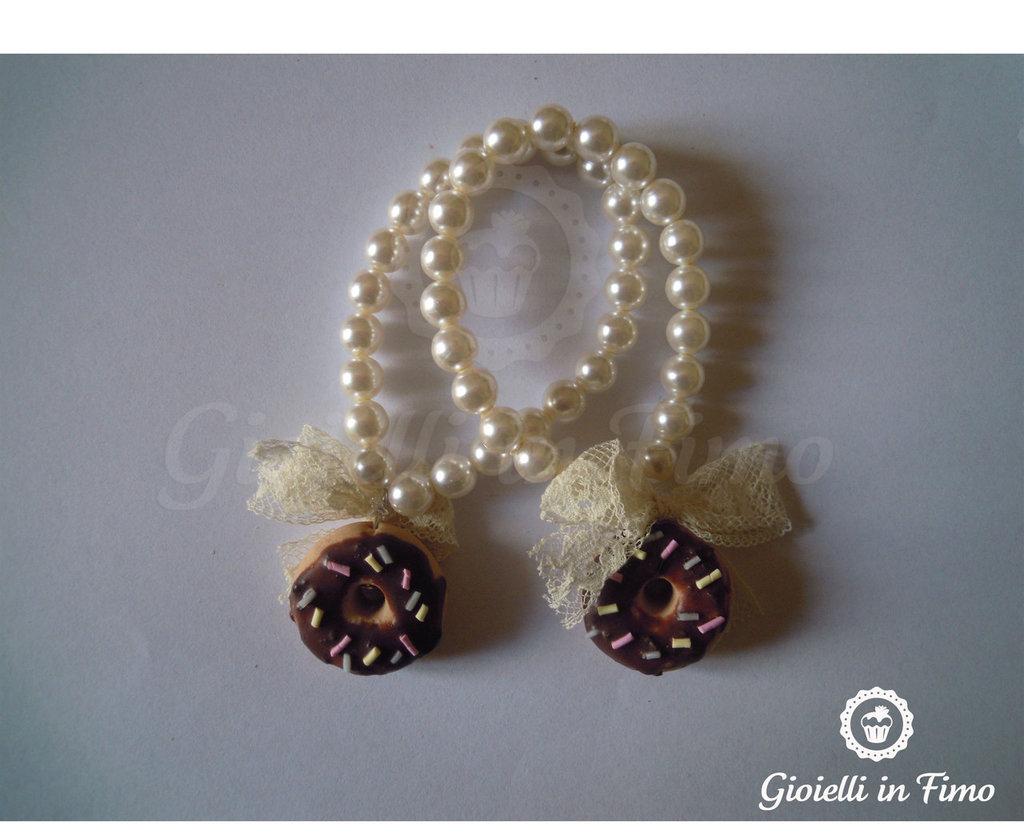 bracciale perle e ciambella
