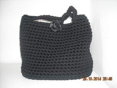 borsa in fettuccia nera
