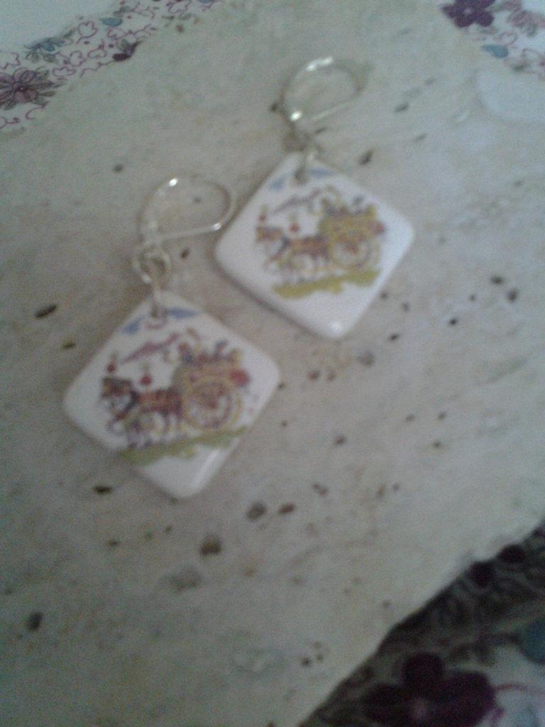 orecchini carretto siciliano quadrato