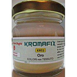 Colore per tessuto Oro 30 ml - Kromafix
