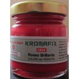 Colore per tessuto Rosso Brillate 30 ml - Kromafix