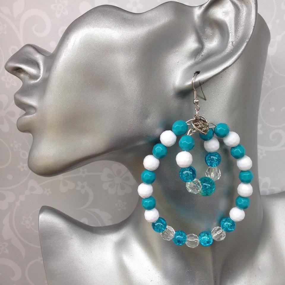 Orecchini Reasins Beads Turchese