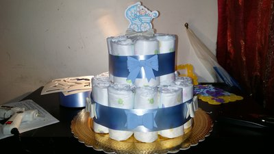 Torte  di pannolini per nascite e compleanni