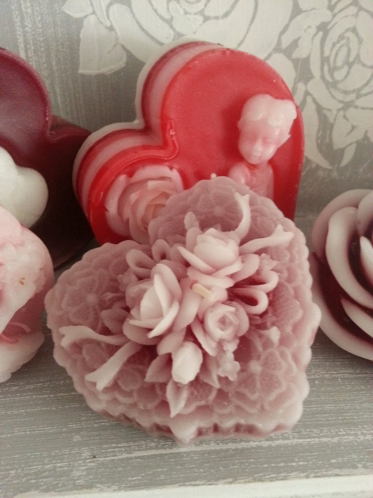 Candela profumata San Valentino - Cuore3Rose
