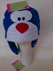 Cuffia Doraemon pile con paraorecchie lungo