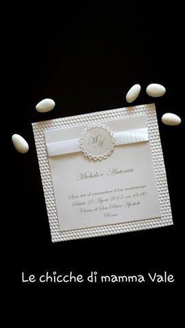 partecipazione invito matrimonio nozze compleanno comunione battesimo shabby fatte a mano