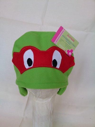 Cuffia tartaruga ninja pile con paraorecchie corto