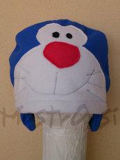 Cuffia Doraemon pile con paraorecchie corto