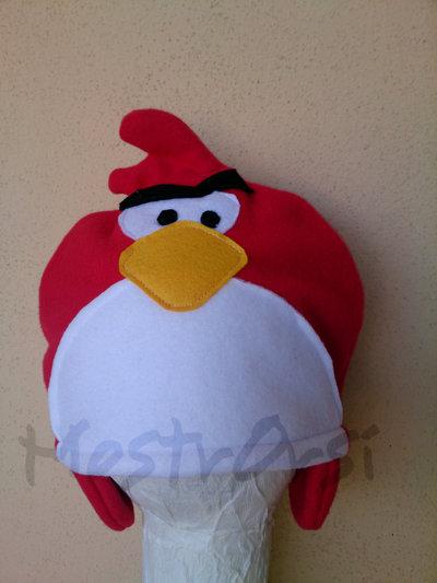 Cuffia Angry Bird Red pile con paraorecchie corto