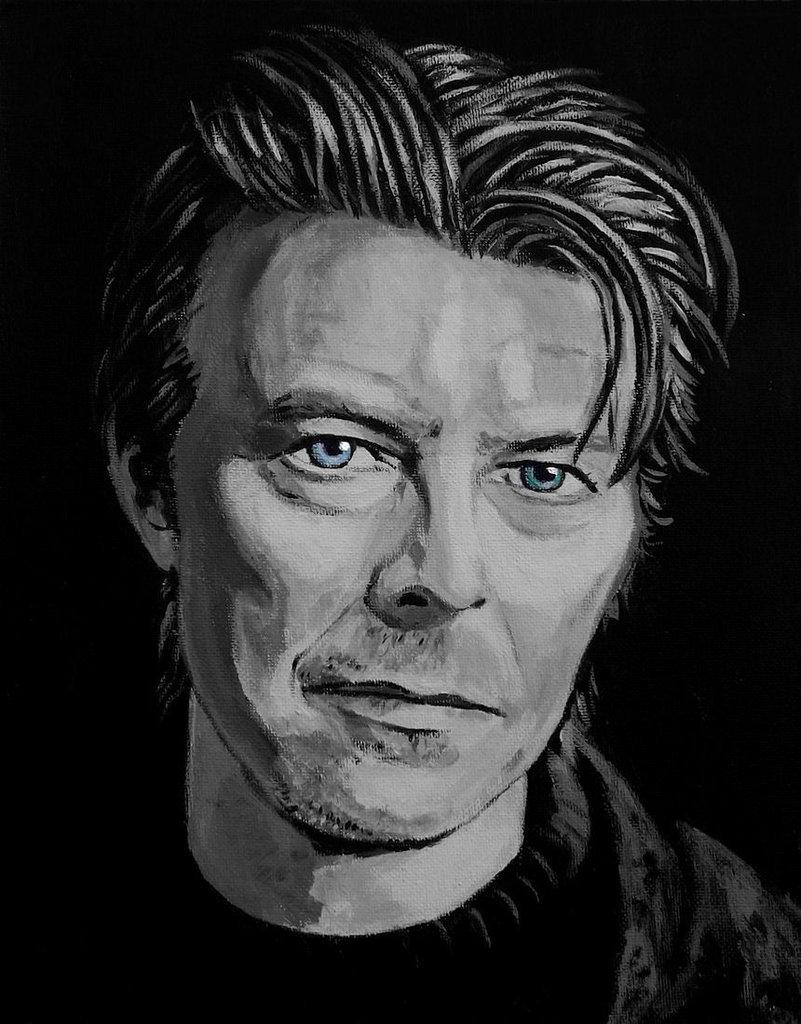 Ritratto David Bowie acrilico pop art