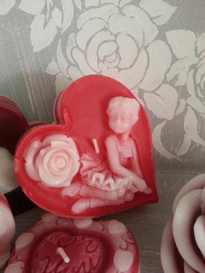 Candela profumata San Valentino-CuoreBallerina3