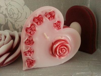 Candela profumata San Valentino-CuoreRose1