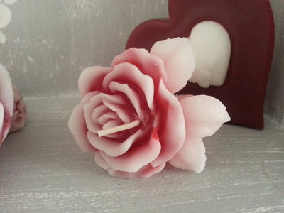 Candela profumata San Valentino-RosaS