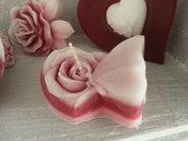 Candela profumata San Valentino-FarfallasuRosa