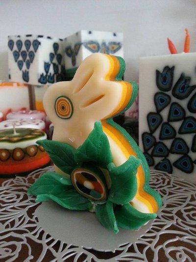 Candela Pasqua cera profumata - Coniglietto