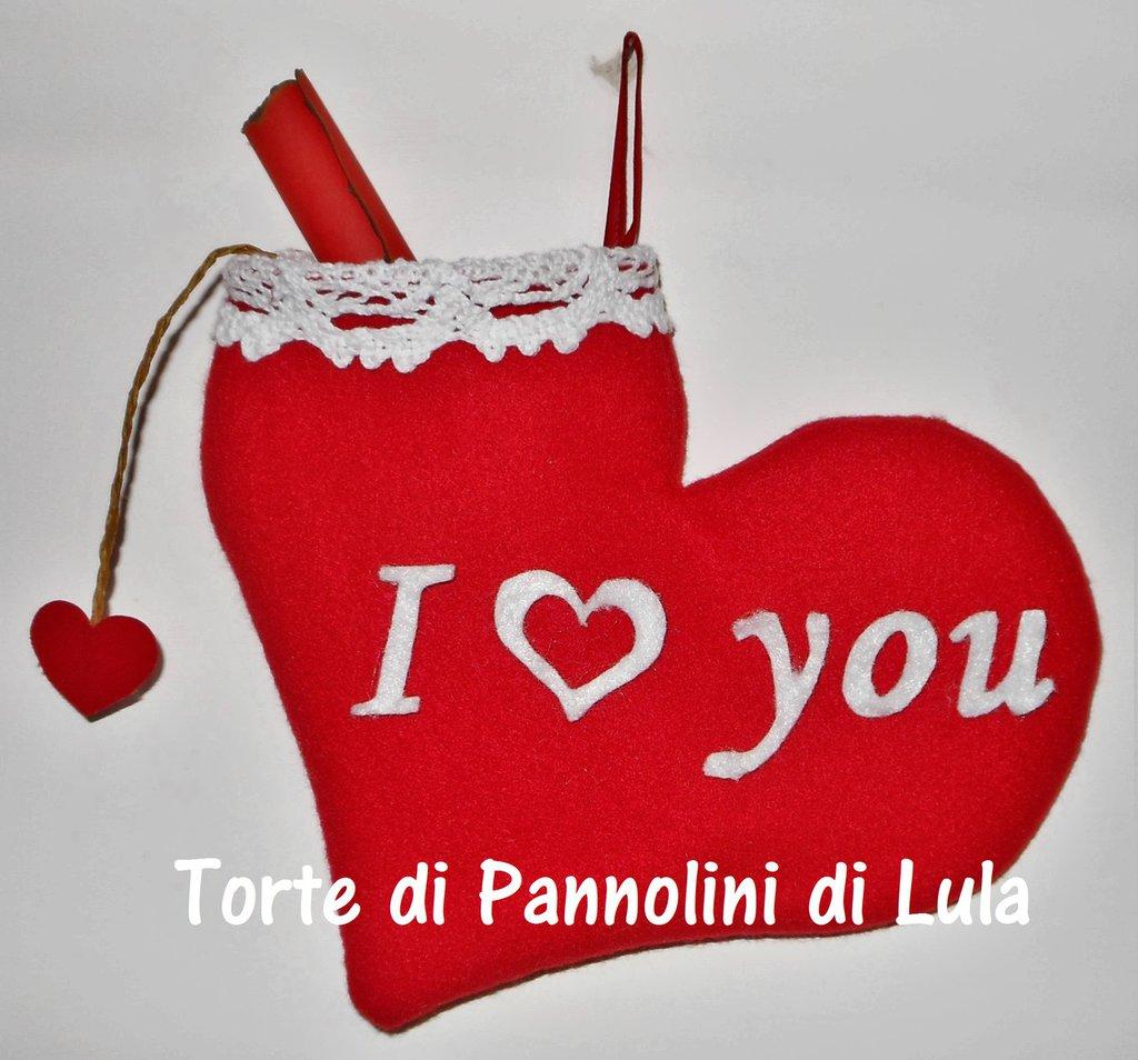 Idea regalo San Valentino MESSAGGIO AMORE in CUORE portagioie personalizzabile