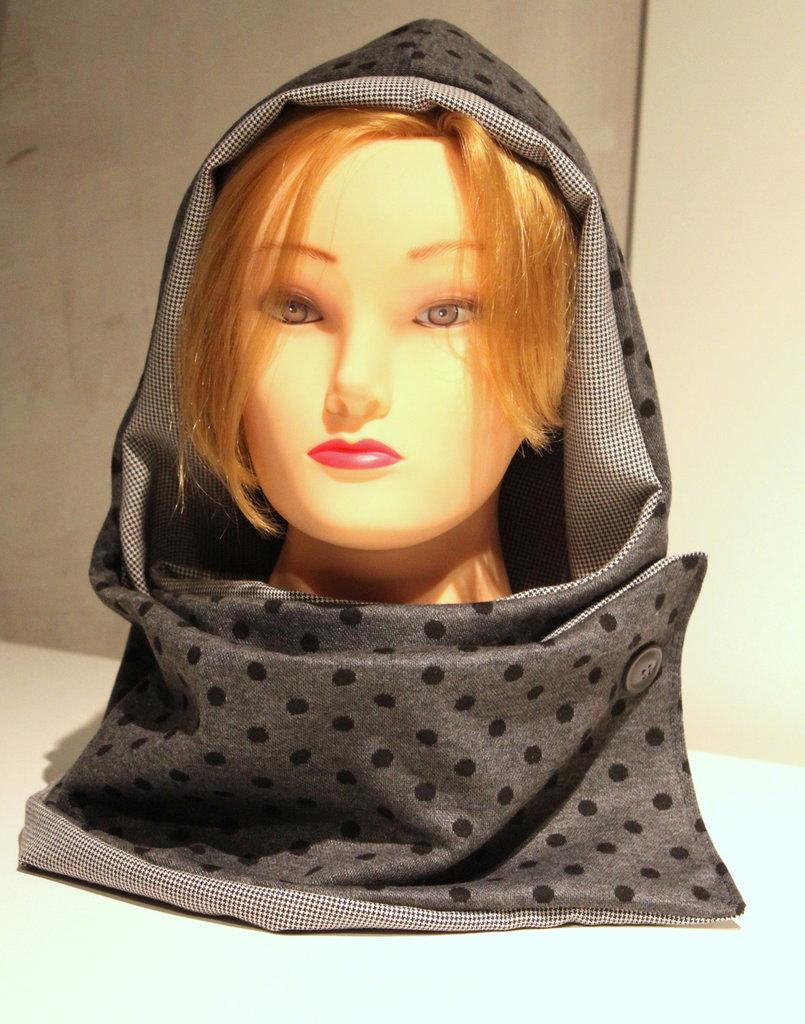 Cappuccio sciarpa doubleface #SKAT