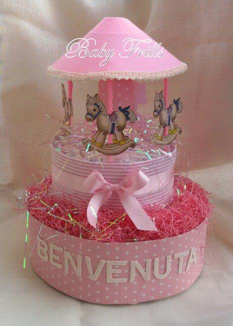 """Torta pannolini """"la Giostrina"""" small"""