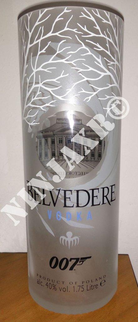 Vaso Bottiglia 007 Spectre Vodka Belvedere Magnum 1,75 L Arredo Riciclo creativo Riuso