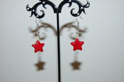 orecchini a stella rossi