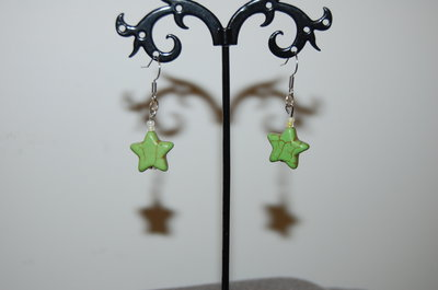 orecchini a stella verdi