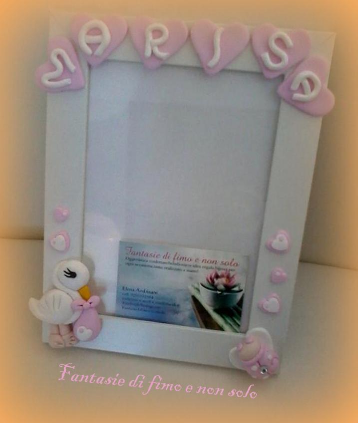 Cornice personalizzata bomboniera regalo nascita o battesimo