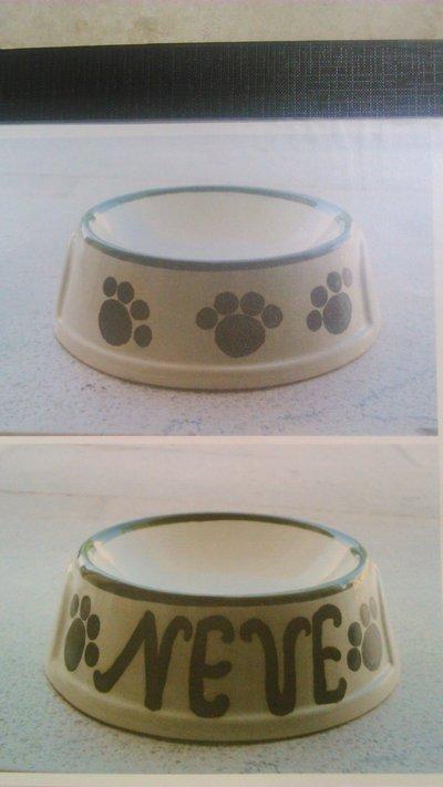 Ciotola gatto in ceramica
