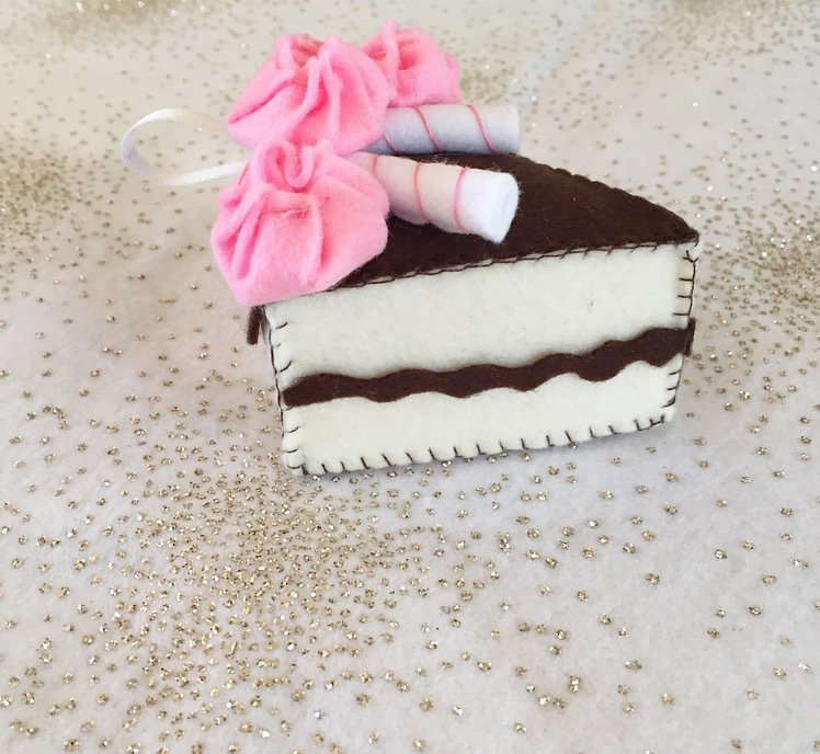 Portachiavi fetta di torta