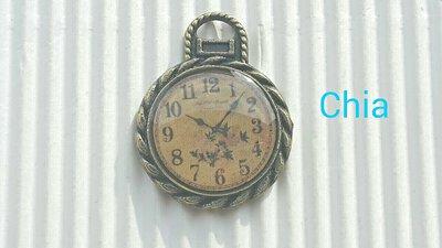 1 charm orologio vintage
